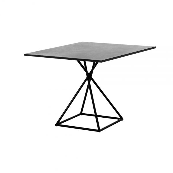 Jane Hamley Wells BB 8101 square dining table granite on powder-coated square base
