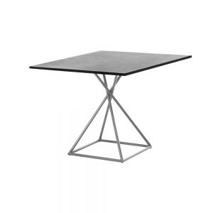 Jane Hamley Wells BB 8101 square dining table granite on stainless steel square base