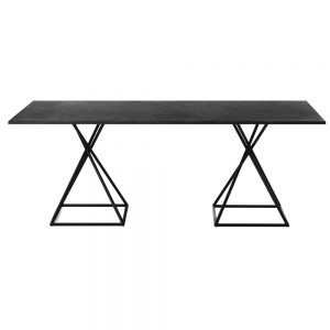 Jane Hamley Wells BB 8102 rectangle dining table granite on powder-coated square base