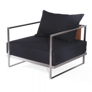 Jane Hamley Wells ABSORPTION_AS5051_A modern indoor outdoor lounge armchair teak stainless steel frame
