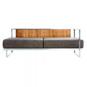 Jane Hamley Wells ABSORPTION_AS5053_A modern indoor outdoor lounge 1-Arm sofa sectional teak stainless steel frame seat cushions back pillows