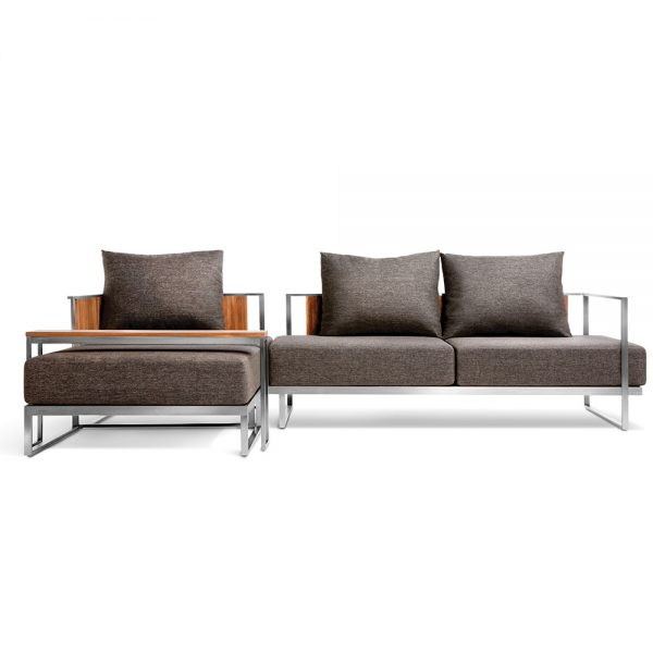 Jane Hamley Wells ABSORPTION_AS5055-AS5051-O_AS5053_AS802 modern indoor outdoor lounge sofa sectional and ottoman teak stainless steel frame seat cushion back pillows group_2