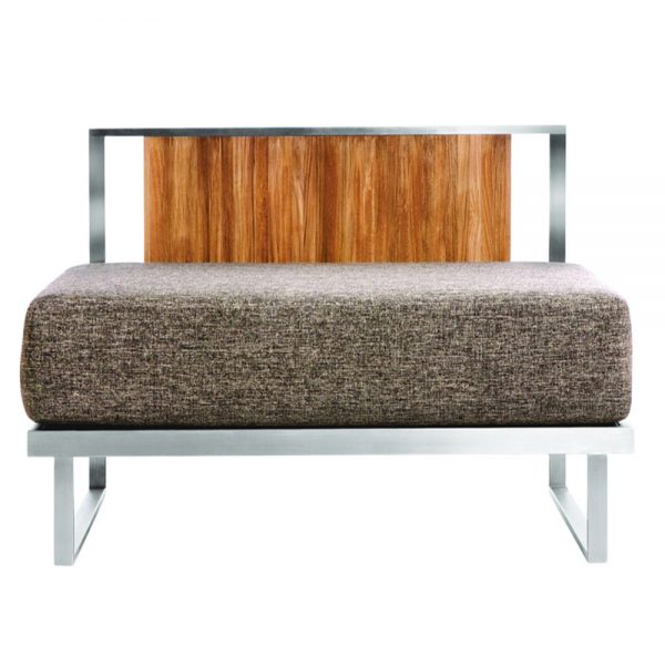 Jane Hamley Wells ABSORPTION_AS5056_modern indoor outdoor lounge armless sofa sectional teak stainless steel frame seat cushion