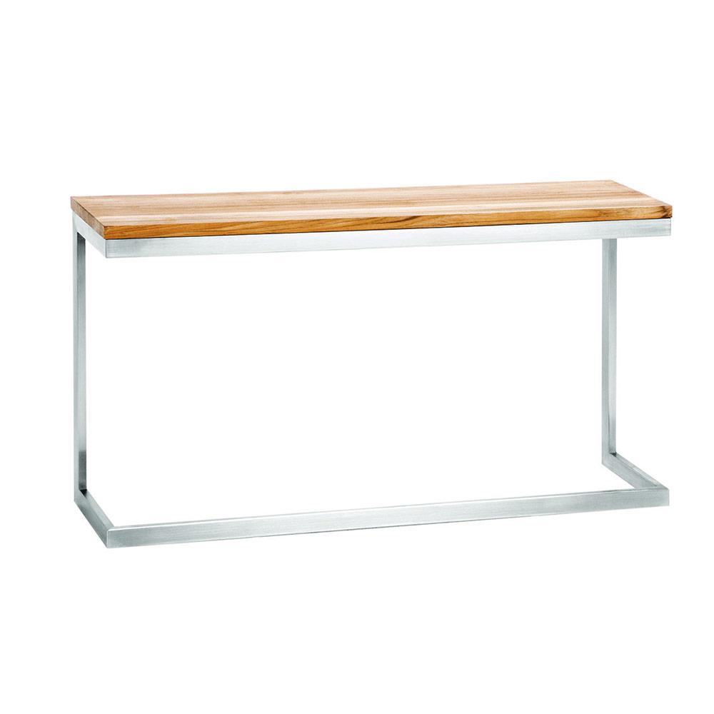 Jane Hamley Wells Absorption As801 C A Modern Indoor Outdoor Side Table Teak Top Stainless Steel