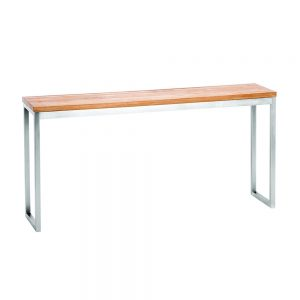 Jane Hamley Wells ABSORPTION_AS802_A modern indoor outdoor side table teak top stainless steel