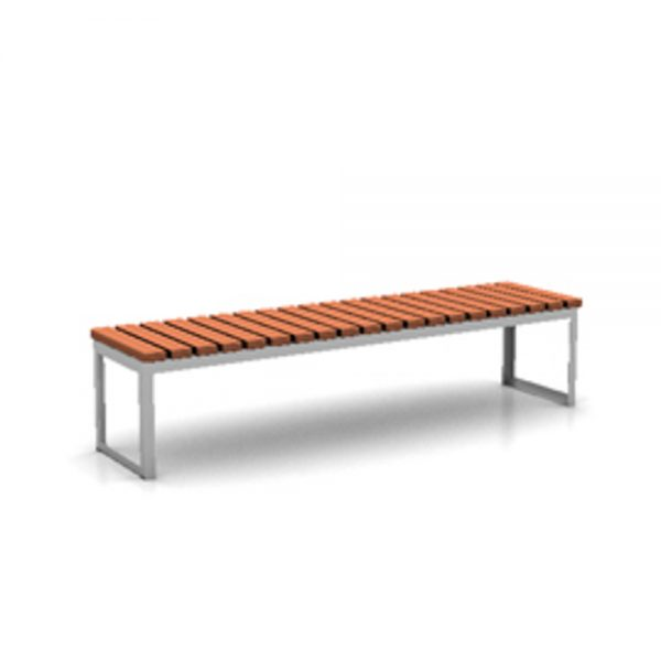 Jane Hamley Wells ARA_DSC1013003_B commercial urban park straight bench backless hardwood seat steel frame