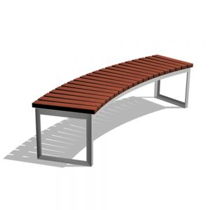 Jane Hamley Wells ARA_DSC1013004_A commercial urban park curved bench backless wood seat steel frame