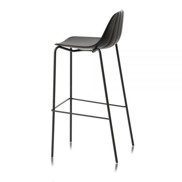 Jane Hamley Wells BABETTE_BABSG-80_A modern restaurant bar stool polyurethane seat chrome or painted steel legs
