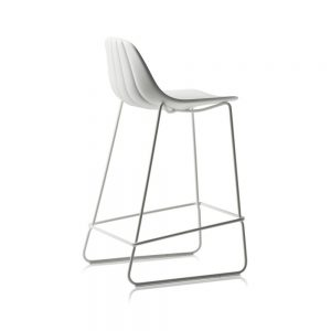 Jane Hamley Wells BABETTE_BABSL-SG-65_A modern counter stool polyurethane seat chrome or painted steel sled base