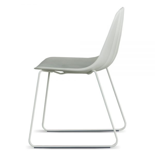 Jane Hamley Wells BABETTE_BABSL_A modern café restaurant side chair molded polyurethane seat on sled base
