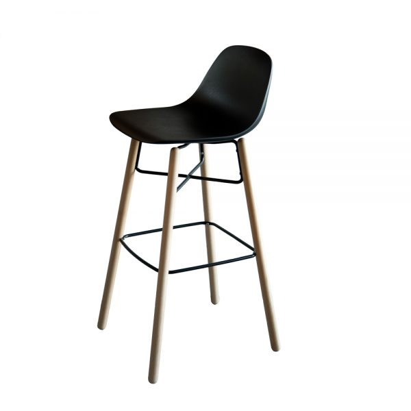 Jane Hamley Wells BABETTE_BABW-SG-80_A modern restaurant bar stool polyurethane seat beech wood legs