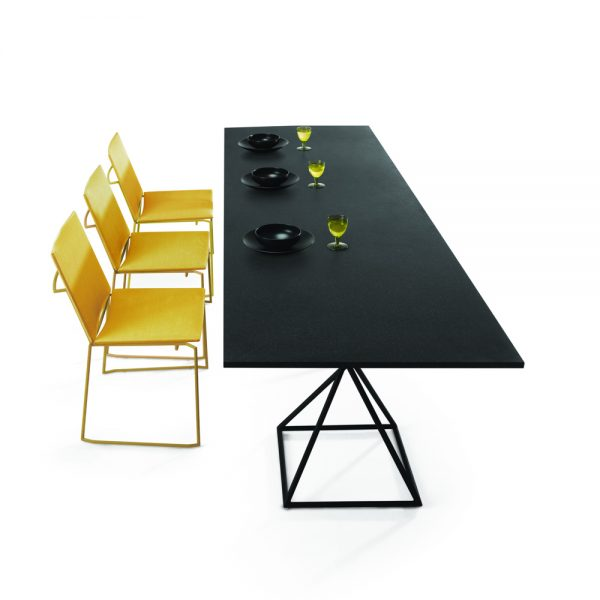 Jane Hamley Wells BB_BB8102 modern indoor outdoor rectangle dining table granite powder-coated square base group_1