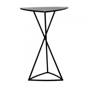 Jane Hamley Wells BB_BB8103_A modern indoor outdoor triangle bar table granite powder-coated triangle base