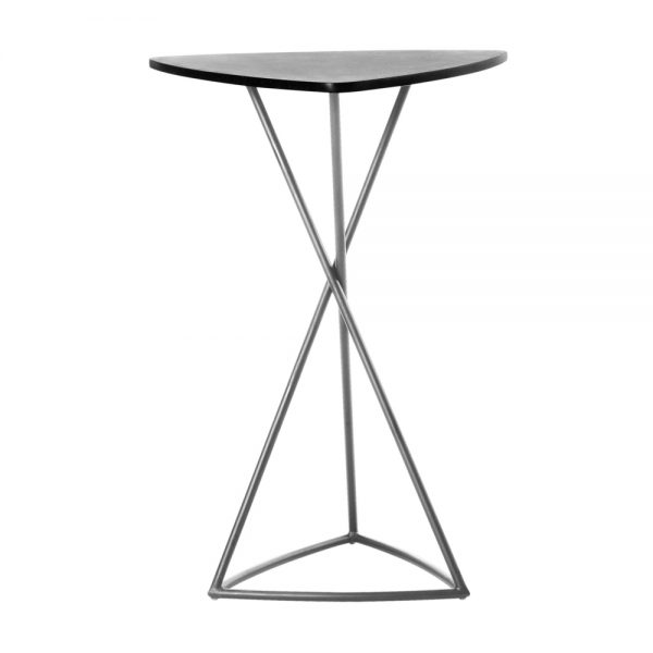 Jane Hamley Wells BB_BB8103_A modern indoor outdoor triangle bar table granite stainless steel triangle base