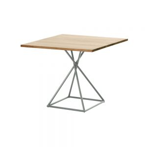 Jane Hamley Wells BB_BB8111_A modern indoor outdoor square dining table teak stainless steel square base