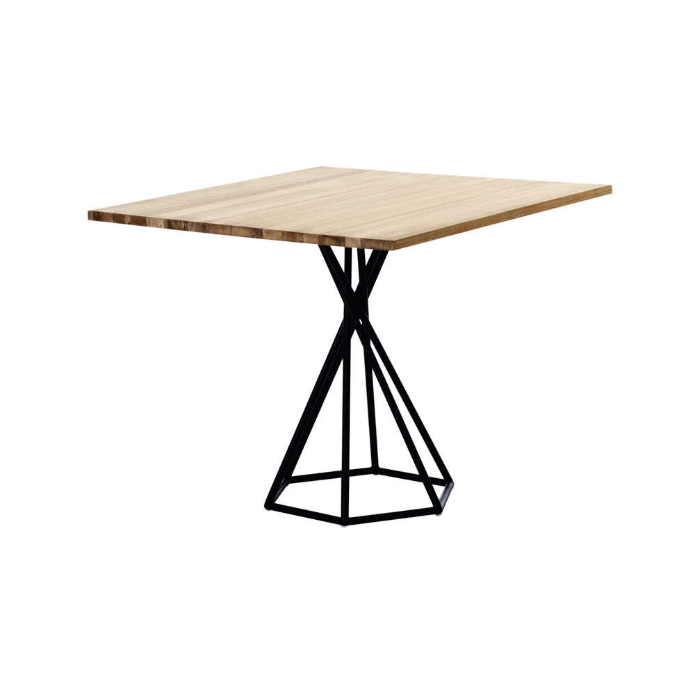 Awesome Bb Square Table Hex Base Teak Pdc Pabps2019 Chair Design Images Pabps2019Com