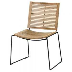 Jane Hamley Wells BB_BB9102-PDC_A contemporary outdoor stacking restaurant chair teak powder-coated stainless steel