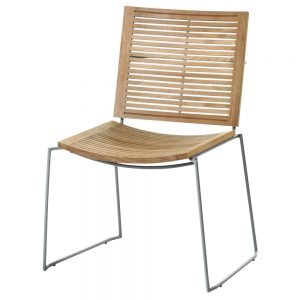 Jane Hamley Wells BB_BB9102-SS_A contemporary outdoor stacking restaurant chair teak stainless steel