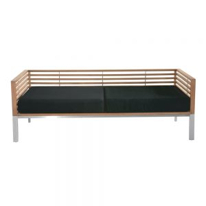 Jane Hamley Wells BEO_BO5999_A modern indoor outdoor 2-Arm sofa teak stainless steel legs upholstered cushions