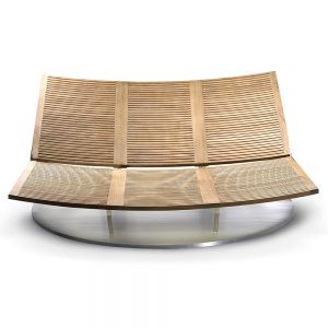 Jane Hamley Wells BEO_BO7289_A modern outdoor chaise lounge teak stainless steel turntable base