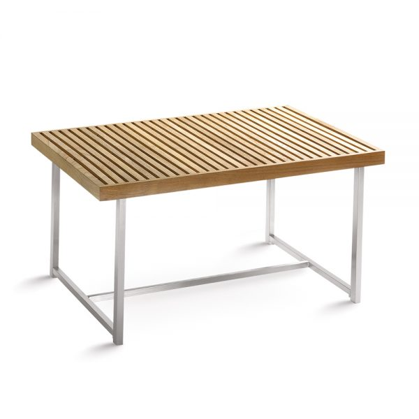 Jane Hamley Wells BEO_BO8016_A modern outdoor coffee table teak top stainless steel