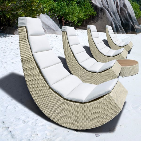 Jane Hamley Wells BIKEEZY_FLUID_DOVCLSK01_A modern all-weather pool side lounge chair wicker rattan with outdoor cushion