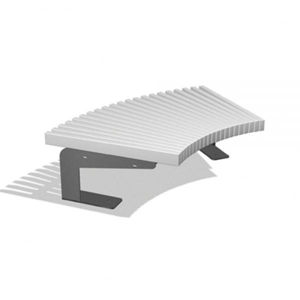 Jane Hamley Wells BOA_DSC1014101_A commercial urban park curved bench backless polyethylene seat steel frame
