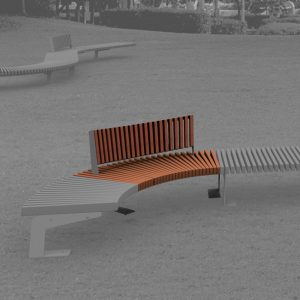 Jane Hamley Wells BOA_DSC1014103R_A commercial urban park curved bench with backrest hardwood seat steel frame