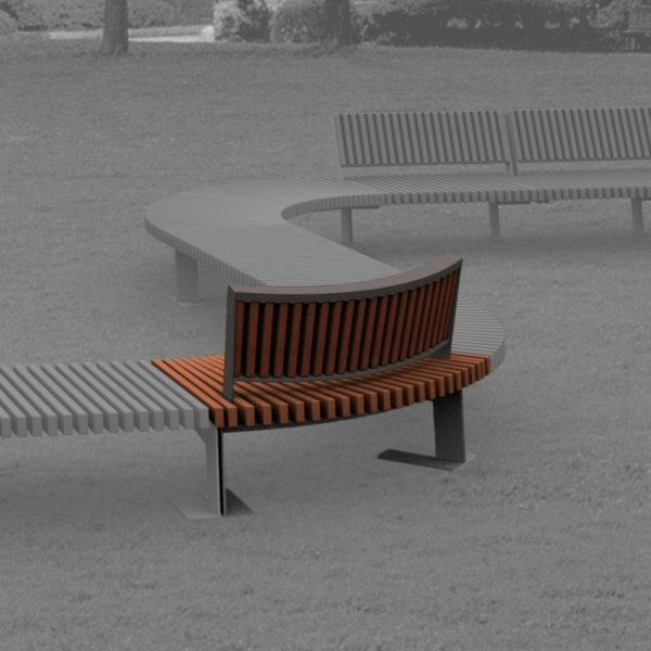Jane Hamley Wells BOA_DSC1014103R_B commercial urban park curved bench with backrest hardwood seat steel frame