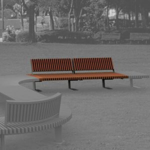 Jane Hamley Wells BOA_DSC1014104R_A commercial urban park straight bench with backrest hardwood seat steel frame