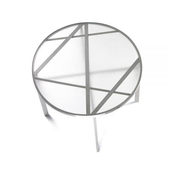 Jane Hamley Wells BOTANIC_BT8353-T_A modern indoor outdoor round dining table glass top stainless steel