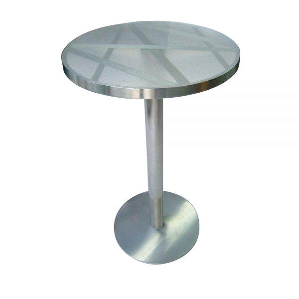 Jane Hamley Wells BOTANIC_BT8354-T_A modern indoor outdoor round bar table glass top stainless steel.jpg-T_A
