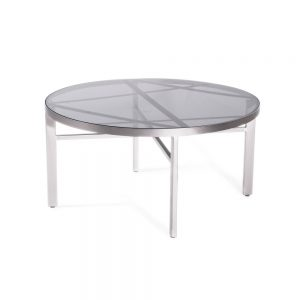 Jane Hamley Wells BOTANIC_BT8355-T_A modern indoor outdoor round coffee table glass top stainless steel