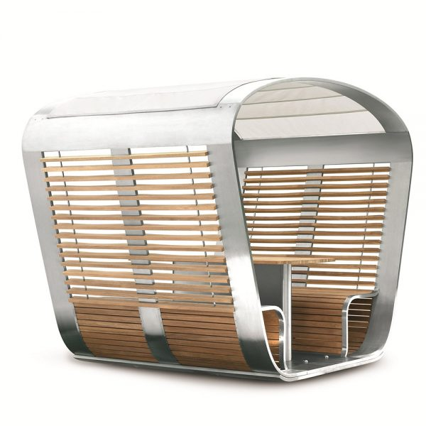Jane Hamley Wells CAPSULE_CA48_A movable modern outdoor sun solar shade gazebo with seating