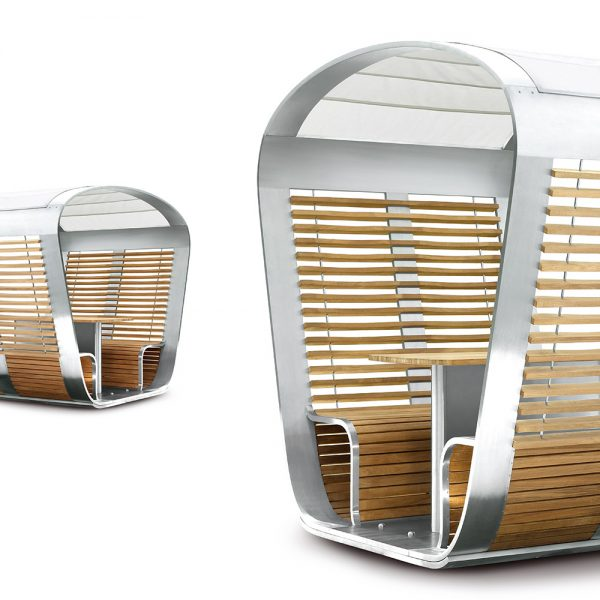 Jane Hamley Wells CAPSULE_CA48_B movable modern outdoor sun solar shade gazebo with seating