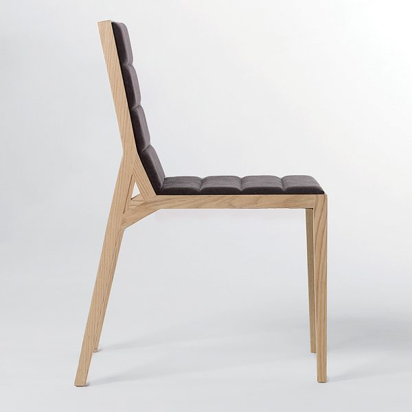 Jane Hamley Wells DREY_002-135_B modern guest side dining chair upholstered seat and back on solid wood legs