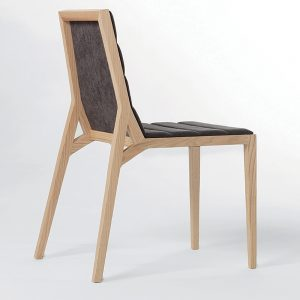Jane Hamley Wells DREY_002-138_A modern restaurant dining chair upholstered seat and back on solid wood legs