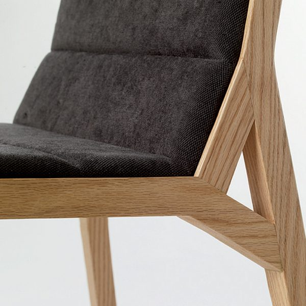 Jane Hamley Wells DREY_002-138_B modern restaurant dining chair upholstered seat and back on solid wood legs