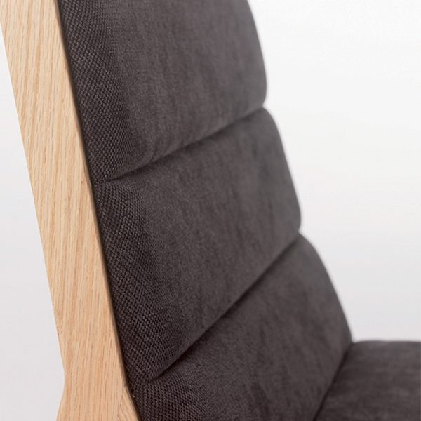 Jane Hamley Wells DREY_002-138_C modern restaurant dining chair upholstered seat and back on solid wood legs