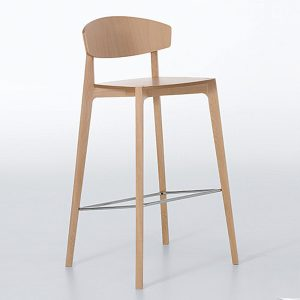 Jane Hamley Wells EKAY_10-072_A restaurant bar stool wood seat and legs