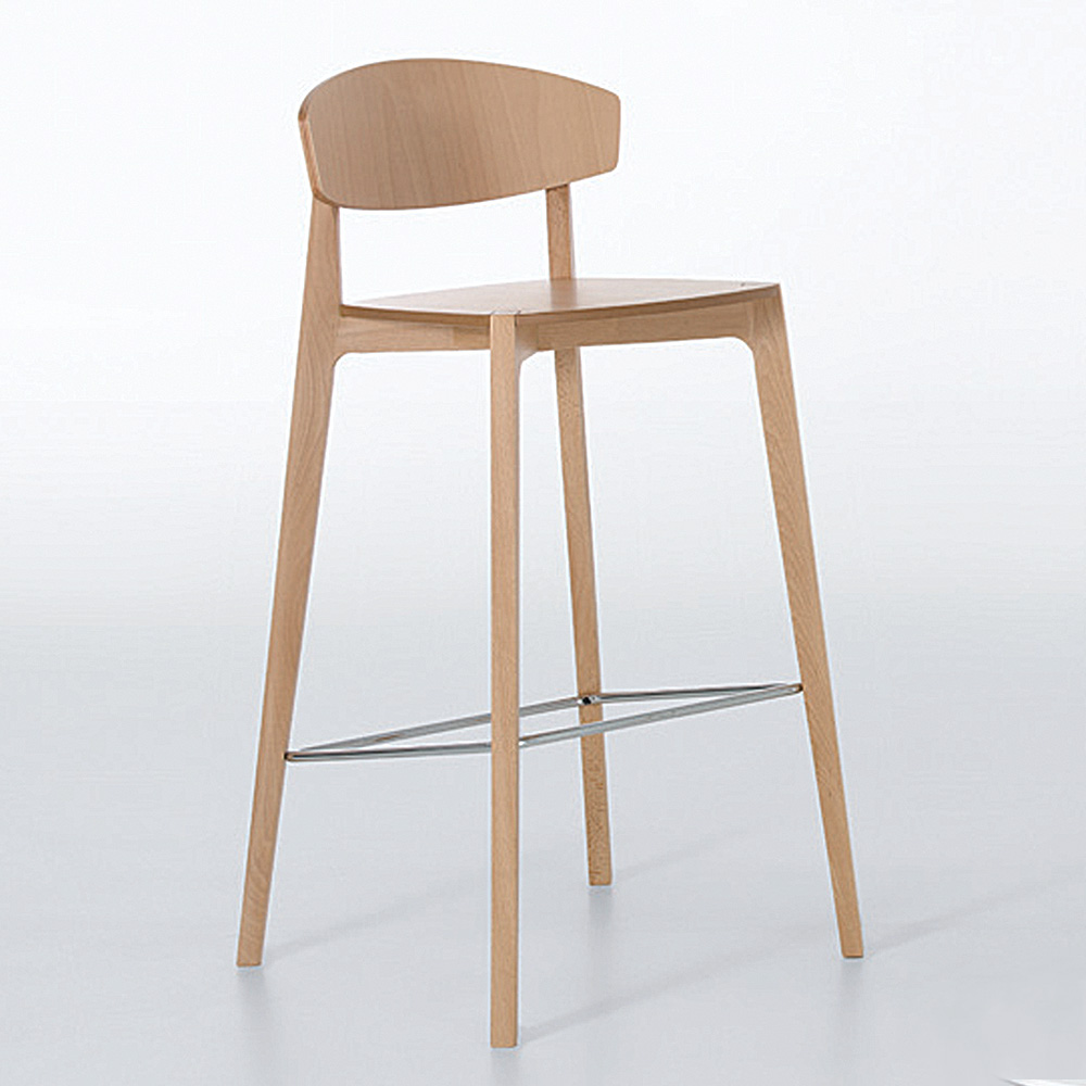 Jane Hamley Wells Ekay 10 072 A Restaurant Bar Stool Wood Seat And Legs