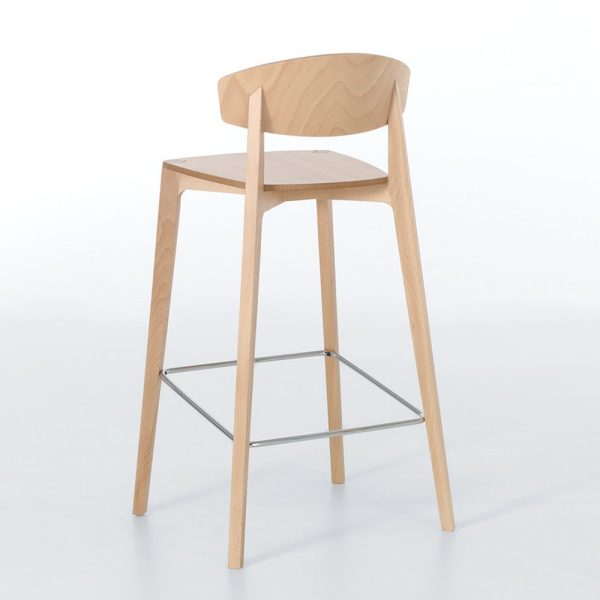 Jane Hamley Wells EKAY_10-072_B restaurant bar stool wood seat and legs