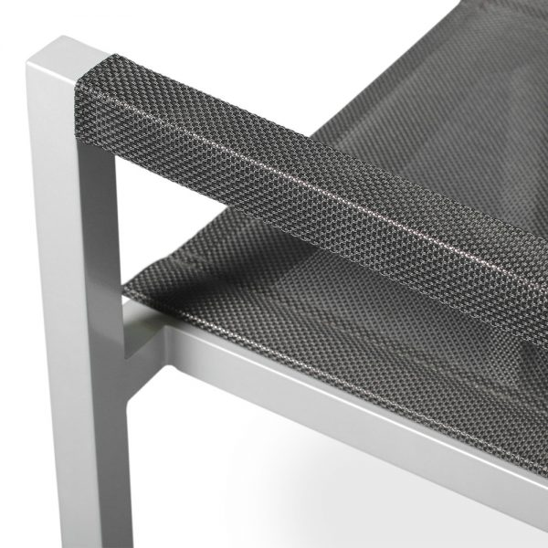 Jane Hamley Wells ELLA_150305_D modern stacking cafe armchair mesh seat and armcovers powder-coated metal frame