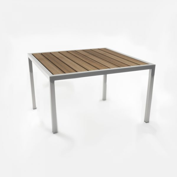 Jane Hamley Wells ELLA_150351_A outdoor square coffee table teak top powder-coated frame
