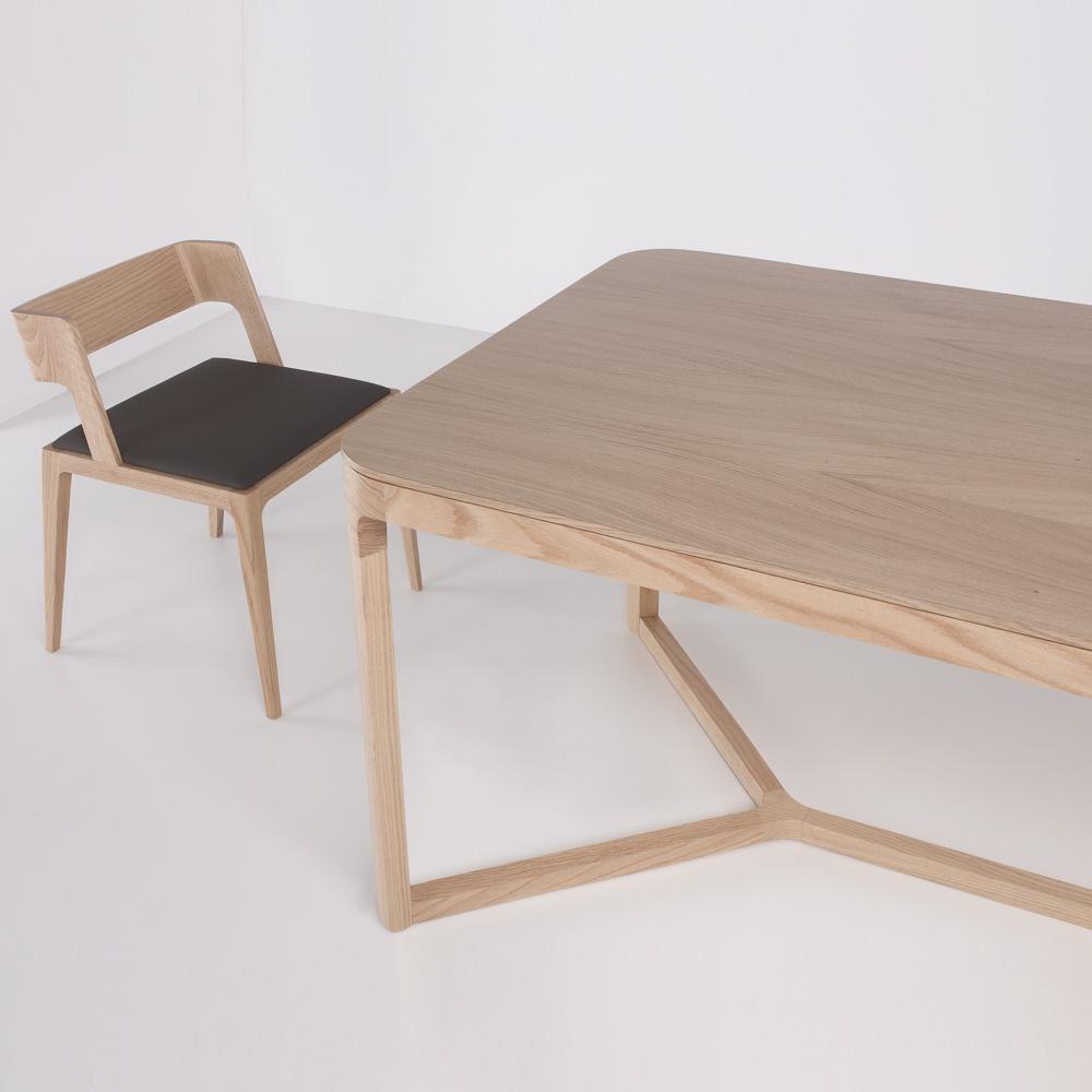 Nord Vanquish Rectangular Glass Coffee Table: EMA Table, Rectangle, Oak