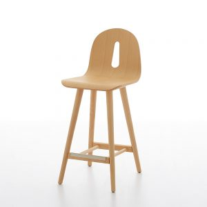 Jane Hamley Wells GOTHAMWOODY_SG-65_A modern counter stool bentwood seat on ash wood legs