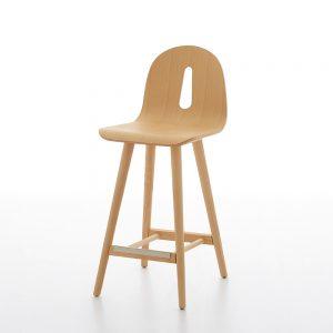 Jane Hamley Wells GOTHAMWOODY_SG-65_A modern counter stool bentwood seat on ash wood legs