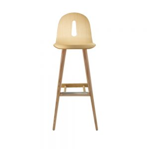 Jane Hamley Wells GOTHAMWOODY_SG-80_A restaurant bar stool bentwood seat on ash wood legs