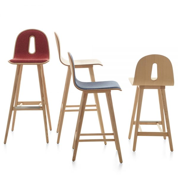 Jane Hamley Wells GOTHAMWOODY_SG_SG-I modern stools bentwood seats on ash wood legs group_1