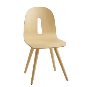 Jane Hamley Wells GOTHAMWOODY_S_A modern guest seating café dining chair molded wood seat on wood legs